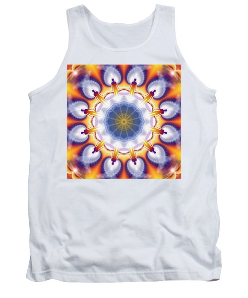 Cosmic Spiral Kaleidoscope 34 Tank Top