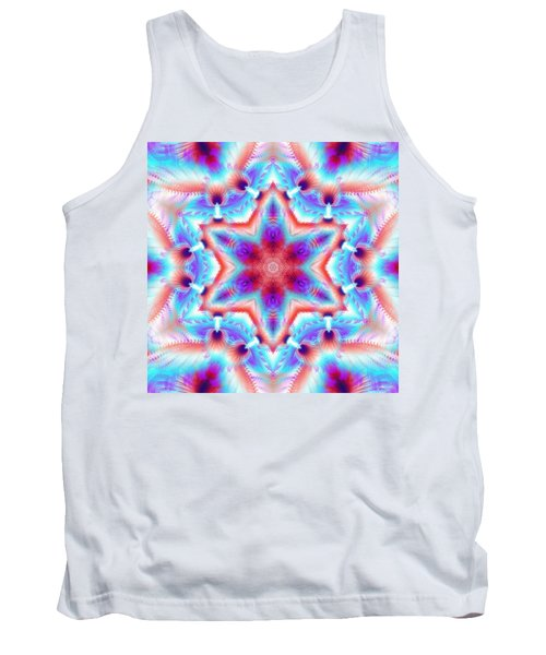 Cosmic Spiral Kaleidoscope 45 Tank Top