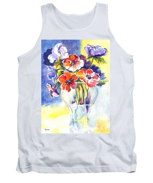Tank Top featuring the painting Cosmos I by Carol Wisniewski