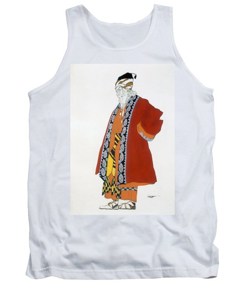 Costume Design For An Old Man In A Red Tank Top