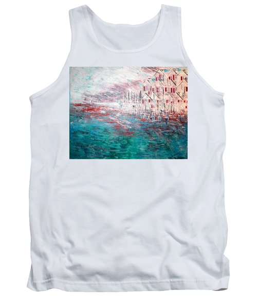 Cottages On The Bay  Tank Top by George Riney