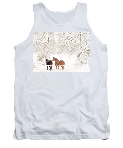 Country Snow Tank Top by Cheryl Baxter