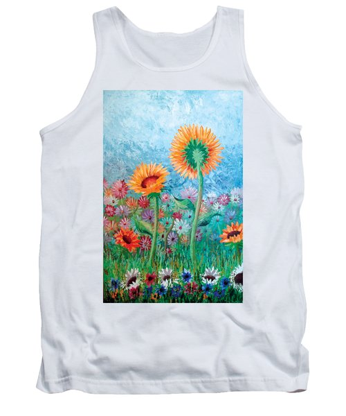 Courting Sunflowers Tank Top