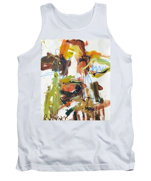 Cow With Green And Brown Tank Top