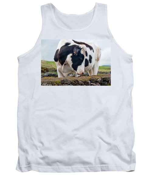 Cow With Head Turned Tank Top