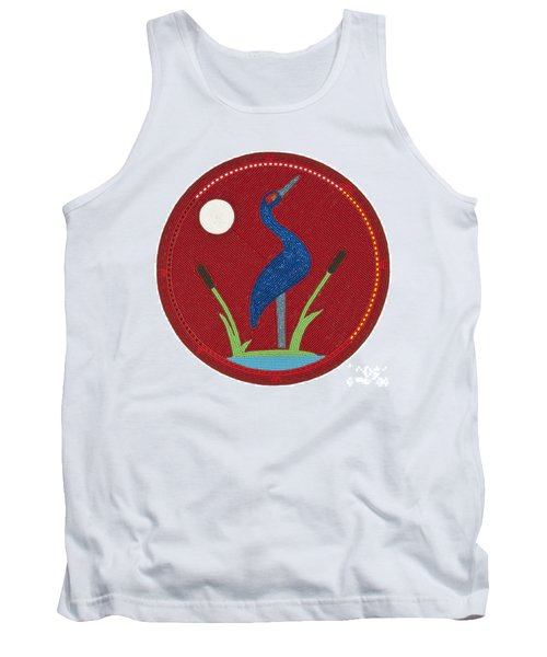 Cradleboard Beadwork Summer Crane Tank Top