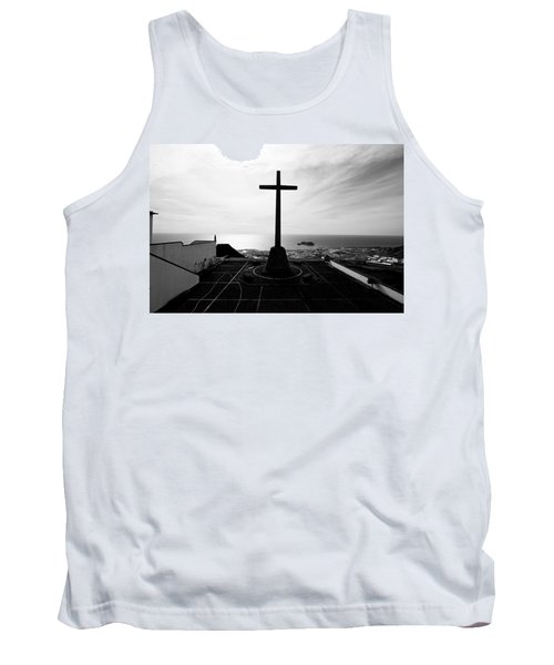 Cross Atop Old Chapel In Village  Tank Top