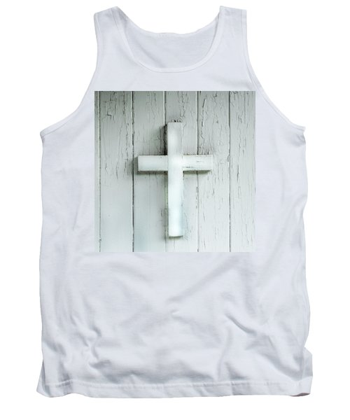 Cross On Holy Angels Sugar Island Michigan Tank Top