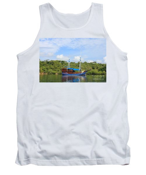 Cruising Yacht Tank Top by Sergey Lukashin