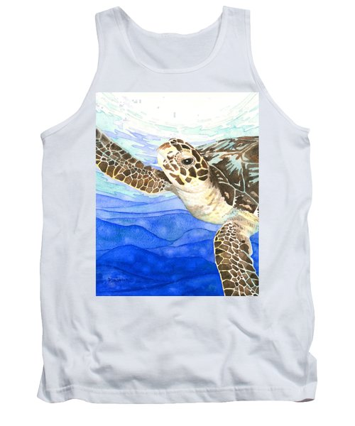 Curious Sea Turtle Tank Top