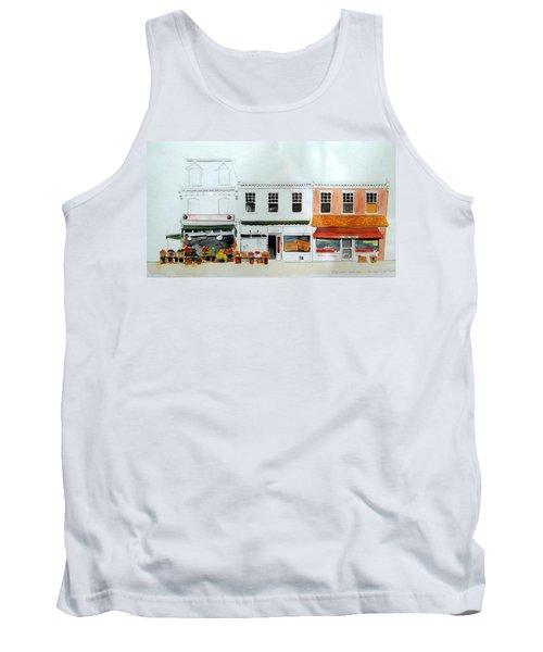 Tank Top featuring the painting Cutrona's Market On King St. by William Renzulli
