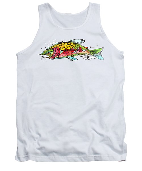 Tank Top featuring the painting Cutthroat Trout by Nicole Gaitan