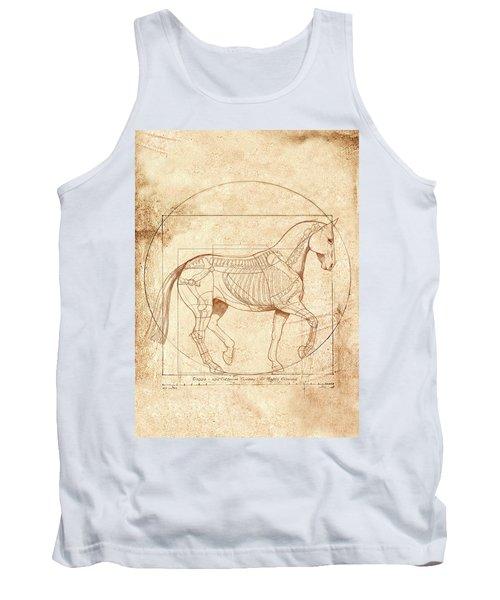 da Vinci Horse in Piaffe Tank Top by Catherine Twomey