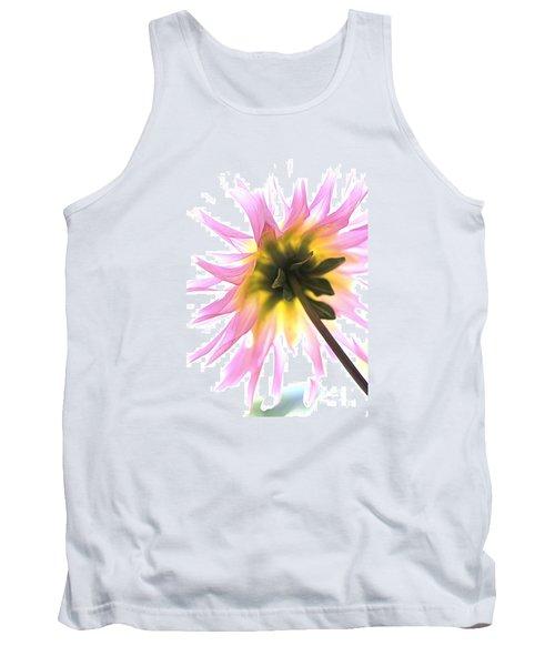 Dahlia Flower Tank Top by Joy Watson