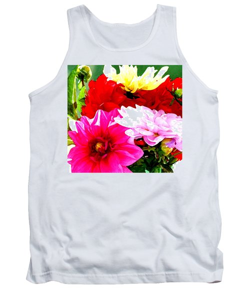 Tank Top featuring the photograph Dahlias  by Lehua Pekelo-Stearns