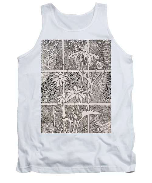 Daisies In A Window Tank Top