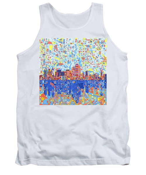 Dallas Skyline Abstract 5 Tank Top