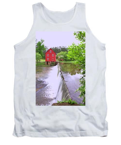 Dam At Starrs Mill Tank Top by Gordon Elwell