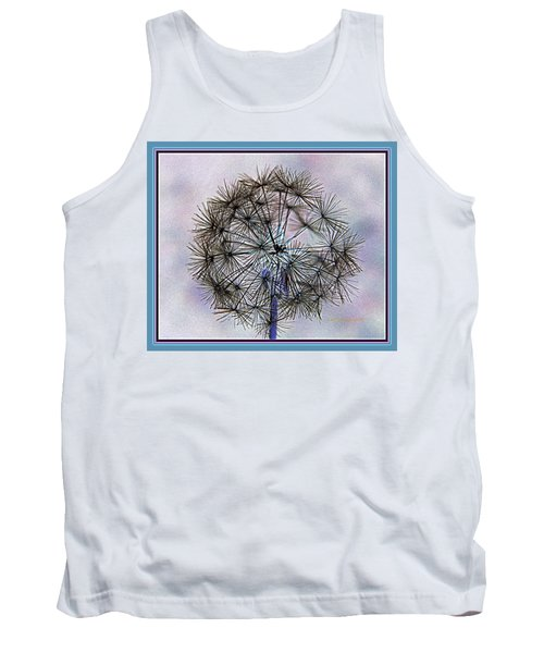 Dandelion Blue And Purple Tank Top by Kathy Barney