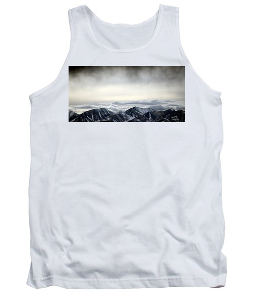 Tank Top featuring the photograph Dark Storm Cloud Mist  by Barbara Chichester
