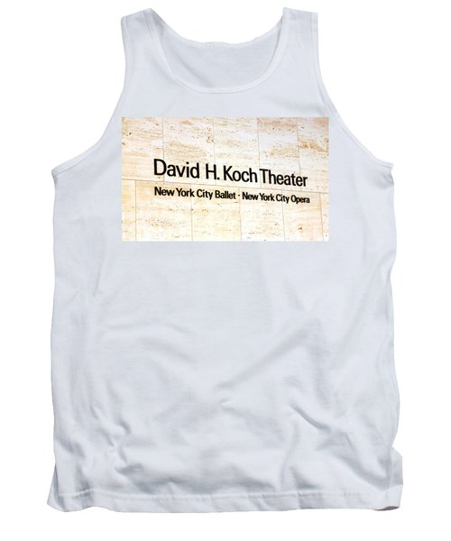 David H. Koch Theater Tank Top by Valentino Visentini