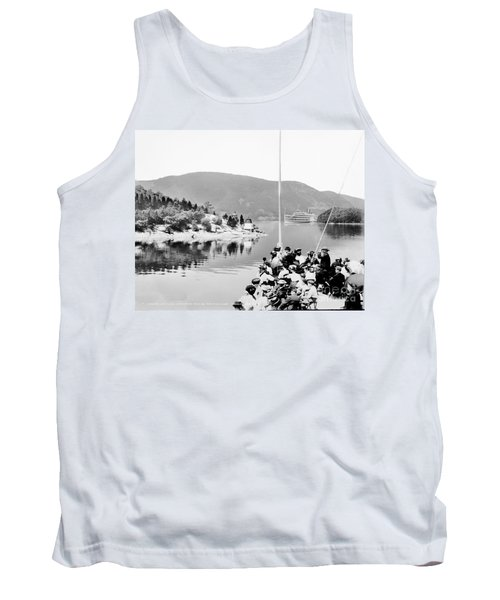 Dayliner At The Narrows In Black And White Tank Top