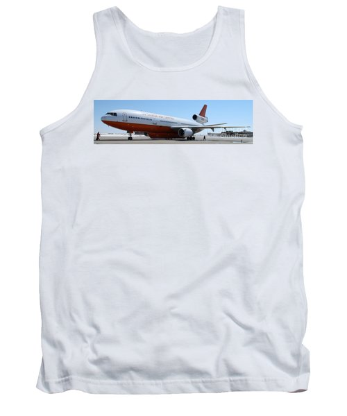 Tank Top featuring the photograph Dc-10 Air Tanker At Rapid City by Bill Gabbert