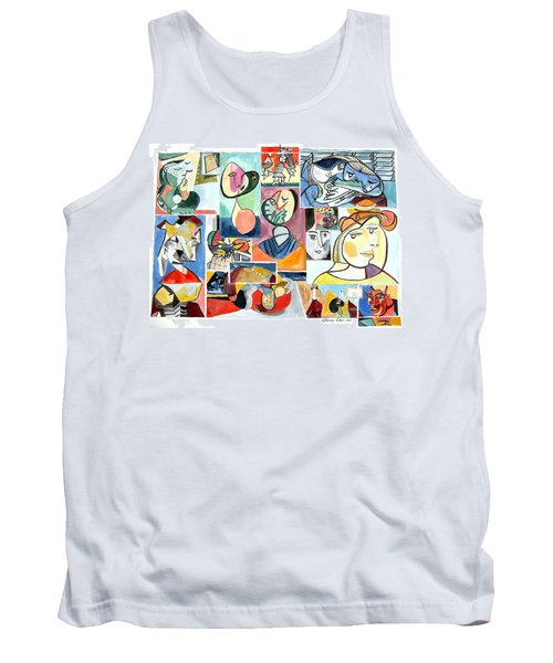 Deconstructing Picasso - Women Sad And Betrayed Tank Top by Esther Newman-Cohen