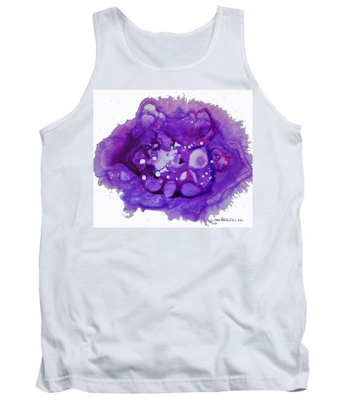 Tank Top featuring the painting Deep Purple by Joan Hartenstein