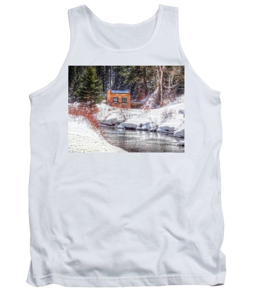 Tank Top featuring the photograph Deep Snow In Spearfish Canyon by Lanita Williams
