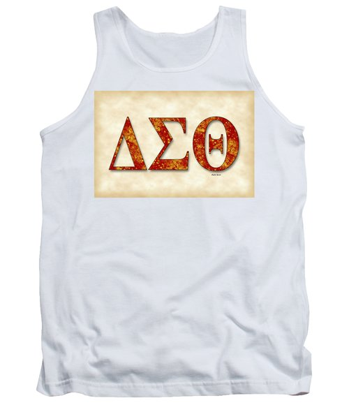 Delta Sigma Theta - Parchment Tank Top by Stephen Younts