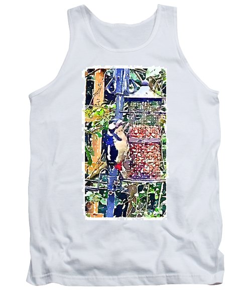 Dendrocopos Major 'great Spotted Woodpecker' Tank Top