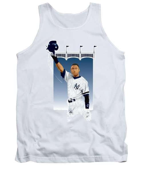Tank Top featuring the digital art Derek Jeter 3000 Hits by Scott Weigner