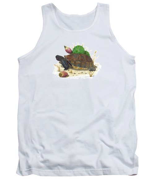 Desert Tortoise Tank Top by Cindy Hitchcock