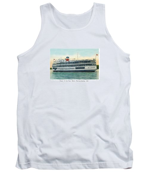 Detroit - Ss Sainte Claire - Boblo - Browning Steamship - 1938 Tank Top