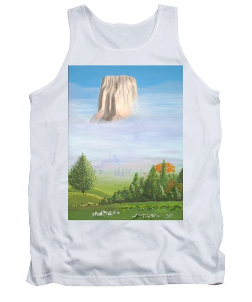 Tank Top featuring the painting Devil's Tower  by Phyllis Kaltenbach