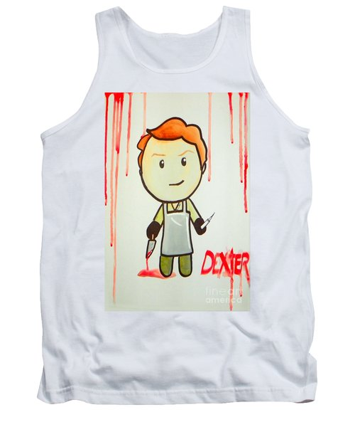 Tank Top featuring the painting Dexter by Marisela Mungia
