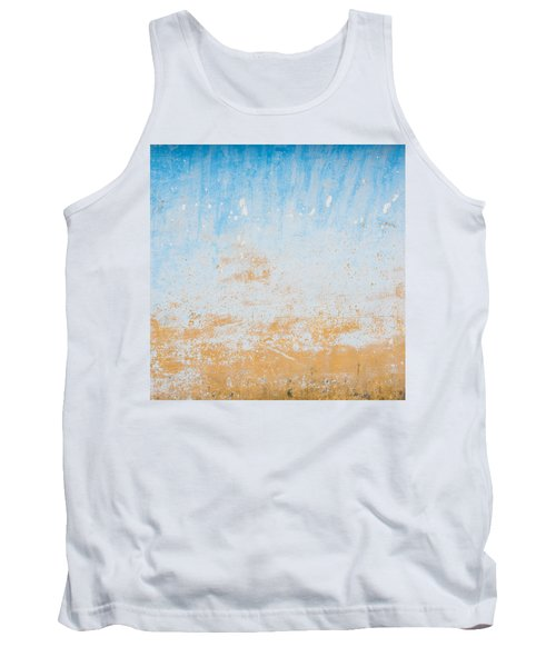 Dilapidated Beige And Blue Wall Texture Tank Top