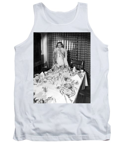Dinner Party Table Setting Tank Top
