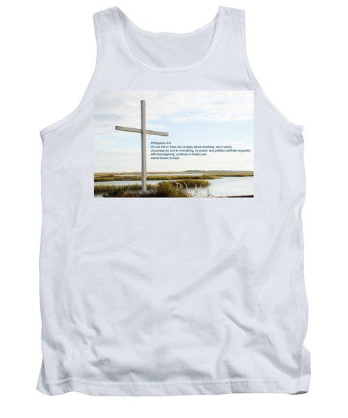 Belin Church Cross At Murrells Inlet With Bible Verse Tank Top