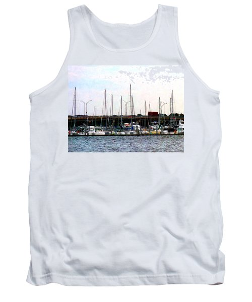 Tank Top featuring the photograph Docked Boats Norfolk Va by Susan Savad