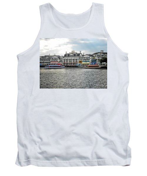 Docking At The Boardwalk Walt Disney World Tank Top by Thomas Woolworth