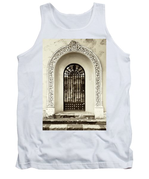 Door With Decorated Arch Tank Top