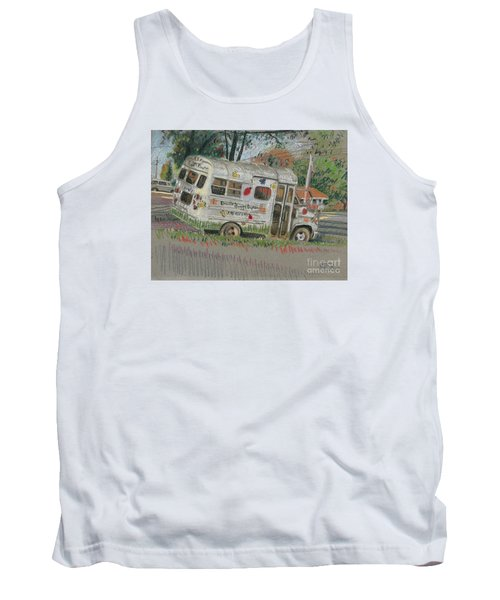 Tank Top featuring the painting Doodlebugs Bus by Donald Maier