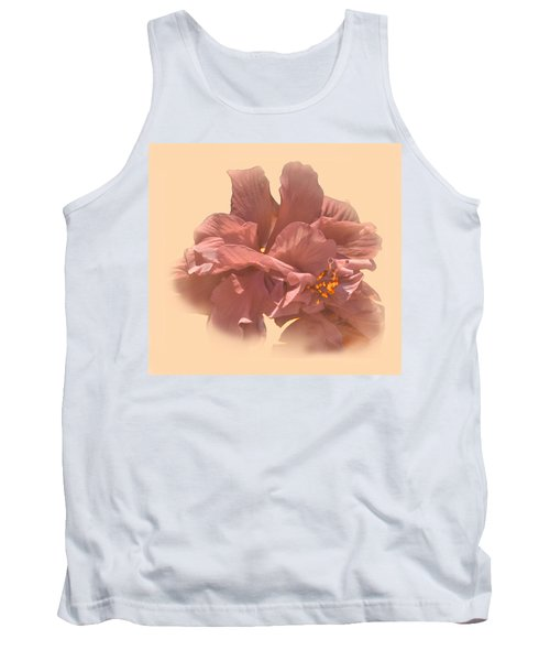 Double Hibiscus Portrait Tank Top