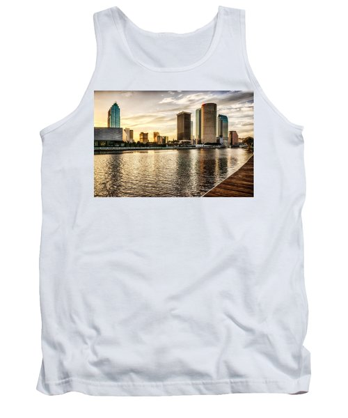 Downtown Tampa At Sunrise Tank Top by Michael White