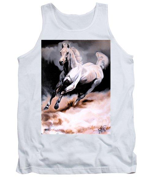 Dream Horse Series 20 - White Lighting Tank Top by Cheryl Poland