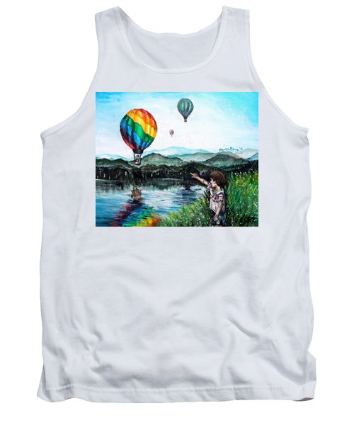 Tank Top featuring the painting Dreams Do Come True by Shana Rowe Jackson