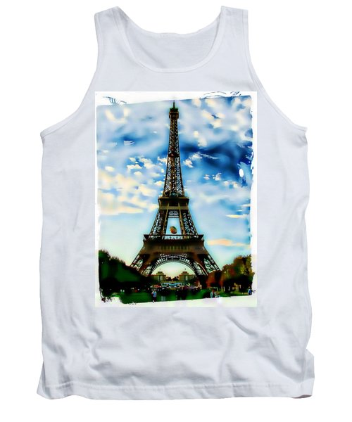 Tank Top featuring the photograph Dreamy Eiffel Tower by Kathy Churchman