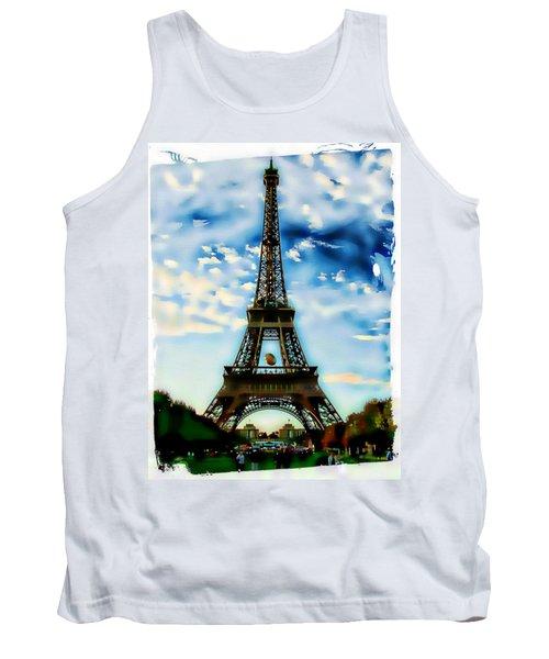 Dreamy Eiffel Tower Tank Top by Kathy Churchman
